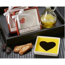 Love Infused Oil and Vinegar Dipping Plate
