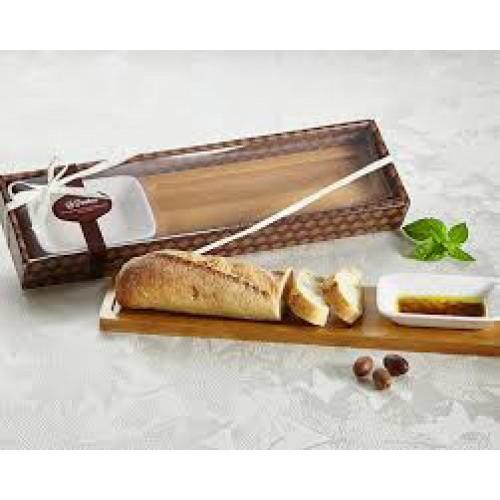 La Panetteria Bread Board with Dipping Dish